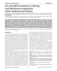 Plos Biology : Hrs and Snx3 Functions in... by Pons, Ve´ronique