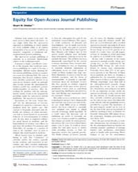 Plos Biology : Equity for Open-access Jo... by Shieber, Stuart M.