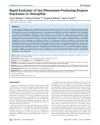 Plos Biology : Rapid Evolution of Sex Ph... by Eisen, Michael B.