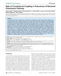 Plos Biology : Role of Translational Cou... by Levchenko, Andre