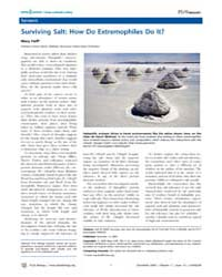 Plos Biology : Surviving Salt ; How Do E... by Hoff, Mary