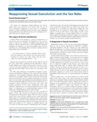 Plos Biology : Reappraising Sexual Coevo... by Bonduriansky, Russell