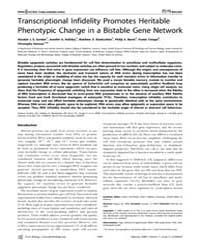 Plos Biology : Transcriptional Infidelit... by Levchenko, Andre