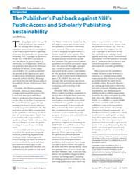 Plos Biology : the Publisher's Pushback ... by Willinsky, John