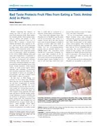 Plos Biology : Bad Taste Protects Fruit ... by Meadows, Robin
