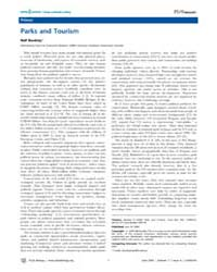 Plos Biology : Parks and Tourism, Volume... by Buckley, Ralf