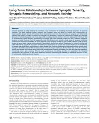 Plos Biology : Long-term Relationships B... by Stevens, Charles F.