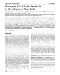 Plos Biology : Oncogenic Kras Initiates ... by Jordan, Craig Thomas