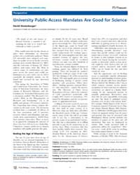 Plos Biology : University Public-access ... by Shulenburger, David