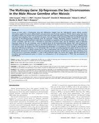 Plos Biology : the Multicopy Gene Sly Re... by Hastie, Nicholas