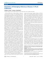 Plos Biology : Genomics of Emerging Infe... by Eisen, Jonathan A.