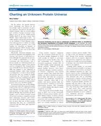 Plos Biology : Charting an Unknown Prote... by Heller, Kira