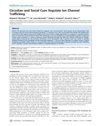 Plos Biology : Circadian and Social Cues... by Maler, Leonard