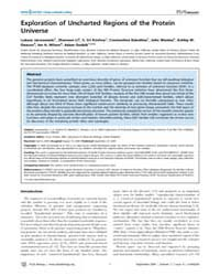 Plos Biology : Exploration of Uncharted ... by Chothia, Cyrus