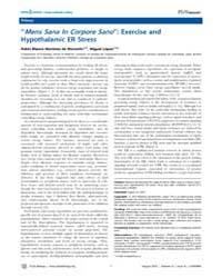Plos Biology : ''mens Sana in Corpore Sa... by Martínez De Morentin, Pablo Blanco