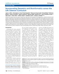 Plos Biology : Incorporating Genomics an... by Ditty, Jayna L.