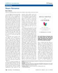 Plos Biology : Neuro Nonsense, Volume 8 by Barres, Ben A.