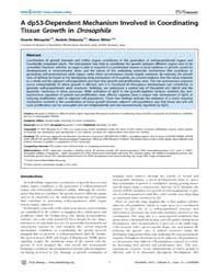 Plos Biology : a Dp53-dependent Mechanis... by Basler, Konrad
