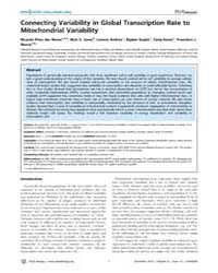 Plos Biology : Connecting Variability in... by Weissman, Jonathan S.