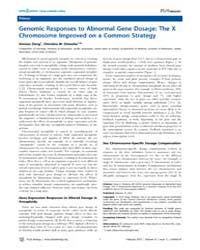 Plos Biology : Genomic Responses to Abno... by Deng, Xinxian