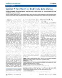 Plos Biology : Vertnet ; a New Model for... by Constable, Heather