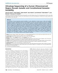 Plos Biology : Ultradeep Sequencing of a... by Hastie, Nicholas