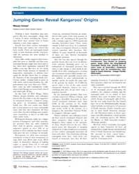 Plos Biology : Jumping Genes Reveal Kang... by Inman, Mason