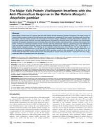 Plos Biology : the Major Yolk Protein Vi... by Schneider, David S.