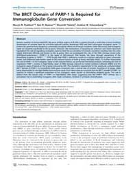Plos Biology : the Brct Domain of Parp-1... by Nemazee, David