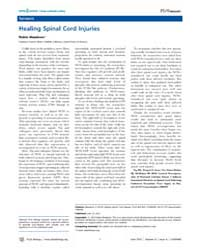 Plos Biology : Healing Spinal Cord Injur... by Meadows, Robin