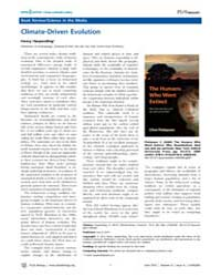 Plos Biology : Climate-driven Evolution,... by Harpending, Henry