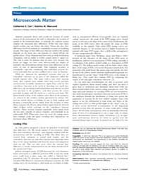 Plos Biology : Microseconds Matter, Volu... by Carr, Catherine E.