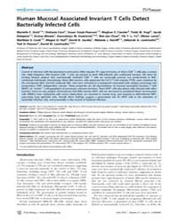 Plos Biology : Human Mucosal Associated ... by Marrack, Philippa