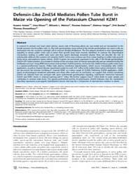 Plos Biology : Defensin-like Zmes4 Media... by Berger, Frederic