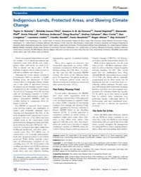 Plos Biology : Indigenous Lands, Protect... by Ricketts, Taylor H.