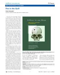 Plos Biology : Fire in the Quill, Volume... by Schneider, Armin