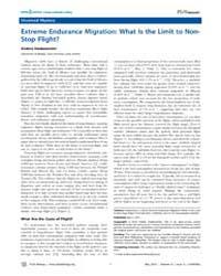 Plos Biology : Extreme Endurance Migrati... by Hedenström, Anders