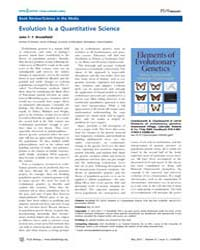 Plos Biology : Evolution is a Quantitati... by Brookfield John F. Y.