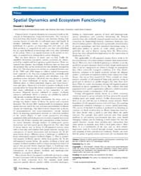 Plos Biology : Spatial Dynamics and Ecos... by Schmitz, Oswald J.