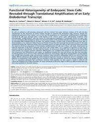 Plos Biology : Functional Heterogeneity ... by Hamada, Hiroshi