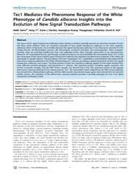 Plos Biology : Tec1 Mediates the Pheromo... by Filler, Scott G.