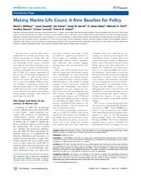 Plos Biology : Making Marine Life Count ... by Williams, Meryl J.