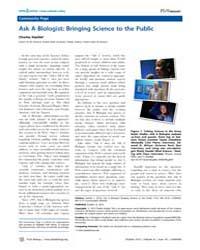 Plos Biology : Ask a Biologist ; Bringin... by Kazilek, Charles