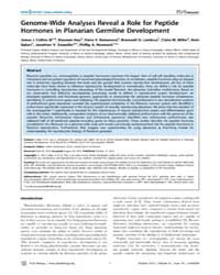Plos Biology : Genome-wide Analyses Reve... by Hartenstein, Volker
