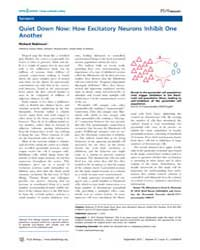 Plos Biology : Quiet Down Now ; How Exci... by Robinson, Richard