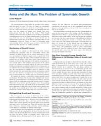 Plos Biology : Arms and the Man ; the Pr... by Wolpert, Lewis