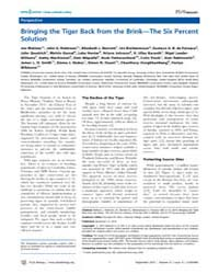 Plos Biology : Bringing the Tiger Back f... by Walston, Joe