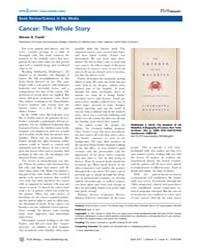 Plos Biology : Cancer ; the Whole Story,... by Public Library of Science (Plos)