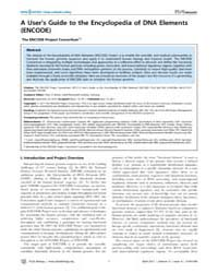 Plos Biology : a User's Guide to the Enc... by B. Becker, Peter