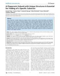 Plos Biology : a Chaperonin Subunit with... by Horwich, Arthur L.